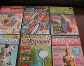 6 Cloth Paper Scissors Magazines Back Issues