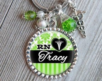 Nurse Gift, Nurse Keychain, Custom Keychain, Nurse Practitioner, Registered Nurse, Personalized Key Tag, NICU, CNA