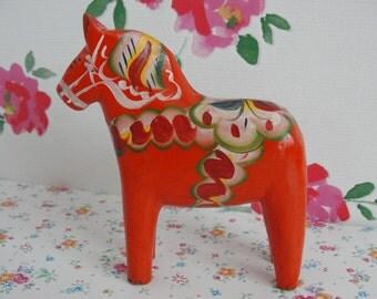 Vintage Swedish Nils Olsson Dala Dalarna Horse 4 7/8 Inch - 12,5 cm