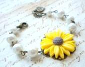 Sunflower Bracelet Flower Girl Gift Yellow Bracelet Flower Wedding Jewelry For Girls Flower Girl Bracelet Summer Wedding Children Bracelet