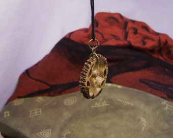 Black Walnut Shell pendant- necklace