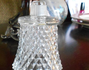 Vintage, Homco Clear Diamond Point Glass Votive Candle Cup for Sconce, Home Decor by Home Interiors