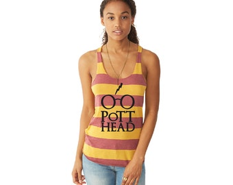 Limited Edition - Harry Potter Gryffindor Tank Top, The Original Pott Head Design, The Perfect Gift for the Harry Potter Fan in your life