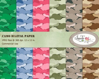 Camo digital papers, Army camouflage digital papers for commercial use, textured camo, textured camouflage digital paper, P170
