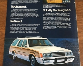 1983 Ford LTD Wagon ad