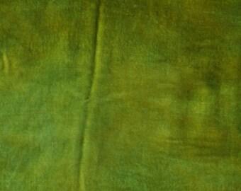Velvet, hand-dyed silk-backed rayon velvet, Avocado Green