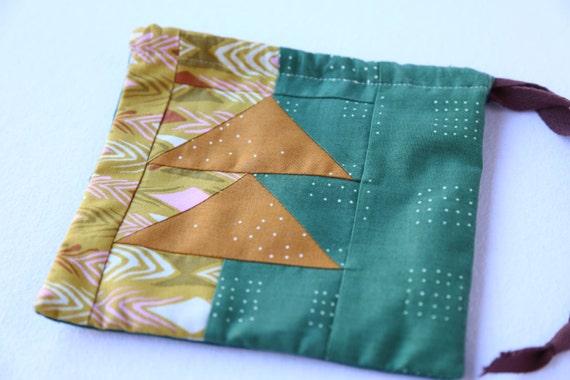 Modern Quilt Medicine Bag- Autumn Arrows