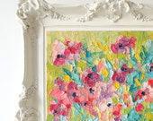 RESERVED FOR T.K.~~Floral Medley No. 3, Original Oil Painting, Impasto Painting, Palette Knife Painting, Floral Impasto, 8x10