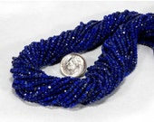 ON SALE Lapis Rondelles Calibrated Faceted Lapis Rondels Lapis Lazuli Pyrite Inclusions Earth Mined Gemstone - 6.5-Inch Strand - 2.4mm