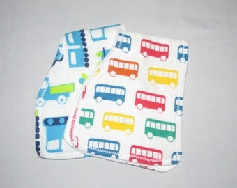 Babyb Boys Burp Cloth Set of 2, Green, Blue, Yellow and Red Drool Cloth