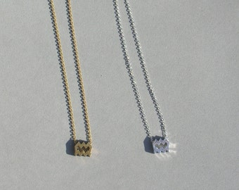 Zodiac Aquarius Necklace in Silver Plated or Gold Plated