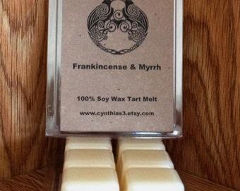Frankincense & Myrrh Soy Wax Tart Melts 6-Pack Clamshell - Extra Strength