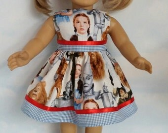 18 inch doll clothes - #319 DOROTHY  Dress made to fit the American Girl Doll - FREE SHIPPING