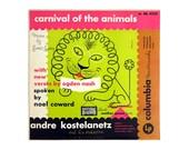 """Alex Steinweiss record album design, 1950. """"Ogden Nash: Carnival of the Animals"""" LP"""