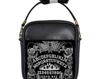 Ouija Board in Black shoulder sling purse