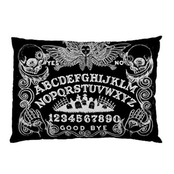 Ouija Board black pillow