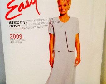 Uncut Easy Stitch n Save McCalls Sewing Pattern 2009, Long Summer Dress & Jacket Sizes 8 10 12 14, Modest