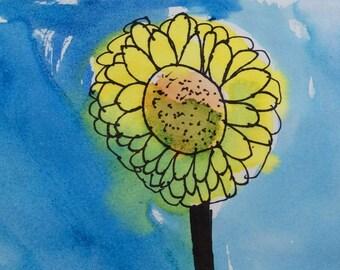 Flower Cards, Set of Three