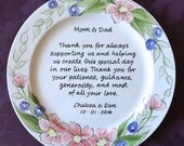 Wedding Mother of the bride gift - Gift Mother of the Groom Wedding gift for Mom and Dad - Thank you Mom & Dad - Parents gift Floral wreath