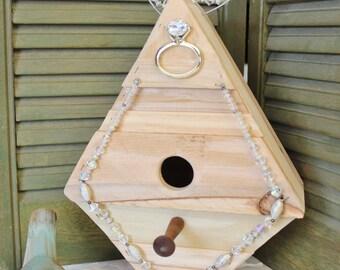 Diamond In The Rough Bird House - Cedar wood bird house - Bird House