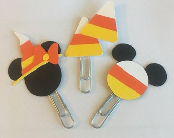 Mickey Minnie candy corn Planner paperclip. Pick one