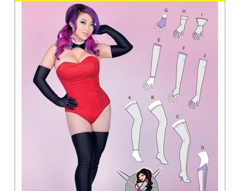 McCall's Costume Accessories Pattern M7397 by YAYA HAN - Misses' Gloves, Arm & Leg Warmers, Stockings and Boot Covers - Costume Accessories