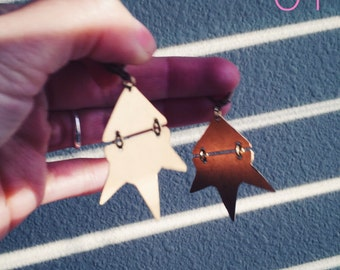 01 // Brass Spike Earrings // made to order