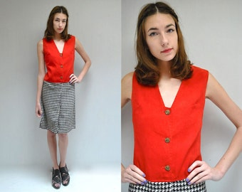 60s Mod Mini Dress  //  Wool Dress  //  THE HOUNDSTOOTH
