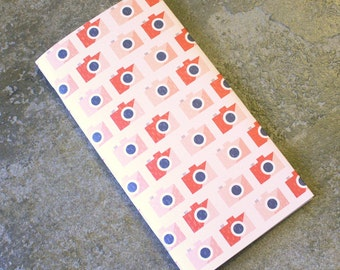 Blank Midori Fauxdori Travelers Notebook Insert Red Camera Cover