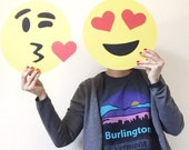Emoji Valentine Photo Booth Props - His and Hers - Love - Wedding - Valentines Day Props - Couple