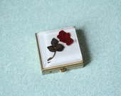 Red Rose Lucite Pill Box