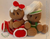 INSTANT DOWNLOAD : Baby's First Plushie - Gingerbread Set Crochet Patterns