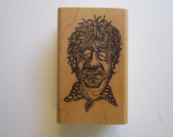vintage rubber stamp - DRUNK GUY - sick guy, tired guy - Rubber Baby Buggy Bumpers - used rubber stamp
