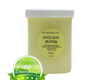 8 Oz Avocado Butter Organic 100% Pure OCold Pressed