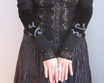 Gypsy caravan armwarmers for belly dance gothic fairy elven witch -Ready to Ship-