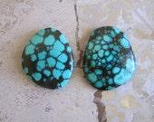 Green Turquoise Cabochon, TC1603, 2 pcs, 140 Carat, Gemstone Cabochon