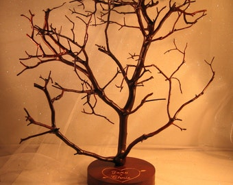 Hand Carved Manzanita Wish Tree / Centerpiece Tree - Natural