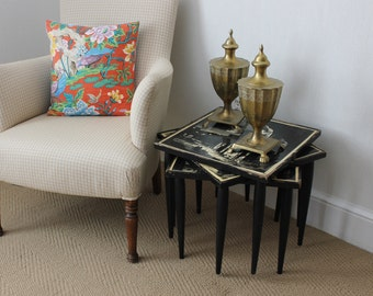 Black and Cream Nesting Tables