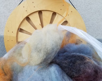 Stone Age - Biota Spinner's Web, 4 oz. - Fiber Blend for hand spinning, felting, wool crafts