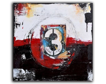 NUMBER ART Painting, Abstract Art, Canvas Wall art, On canvas, Original Art, Abstract Painting, large artwork