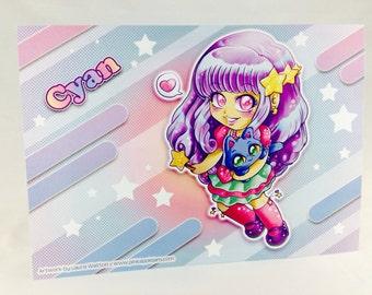 3 DESIGNS - Fairy Kei Chibi Artwork Poster (Individual or Set)