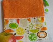 """Reusable Sandwich / Snack Bag - 7.5"""" x 7.5""""- Food safe PUL lined, Zippered, Machine Washable"""