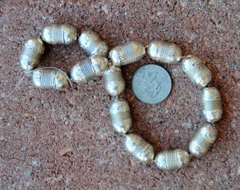 Ethiopian Silver Beads 12x20mm