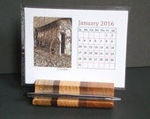 2016Calendar with Wood Holder