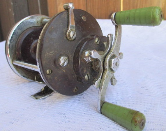 Fishing reel vintage reel penn peer 109 salt water by for Penn deep sea fishing reels