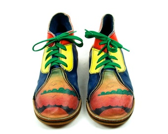 Colorful Tooled Leather Chukka Boots with Vibram Sole