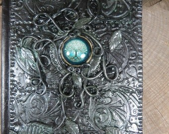 Tree of Life Journal,  Small Book of Shadows, Small Handmade Journal, Spell Book, Witch's Journal, Witchcraft Grimoire, Tarot Journal, Witch
