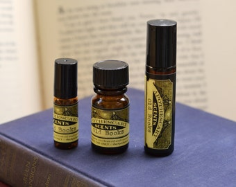 OLD BOOKS Perfume Oil - Vanilla, Aromatic Woods, Leather, More - Choose From Three Sizes!
