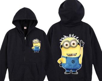 Minion zip up hoodie