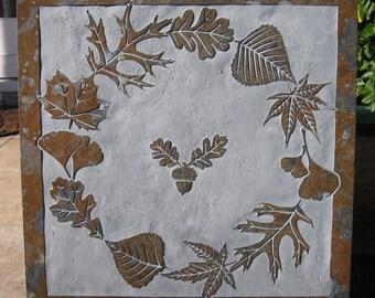 16x16 Multi-Leaf Slate Medallion